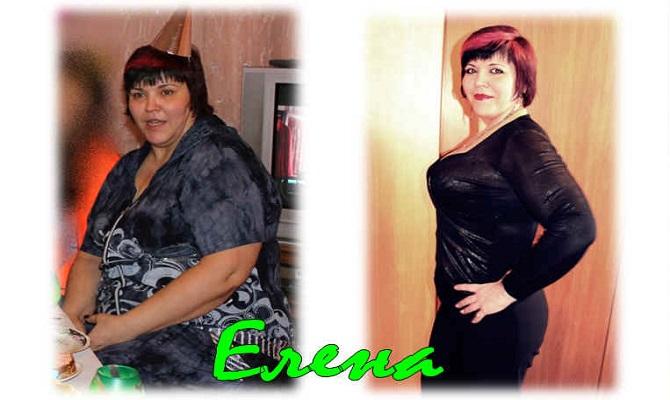 Елена похудела на 30 кг.