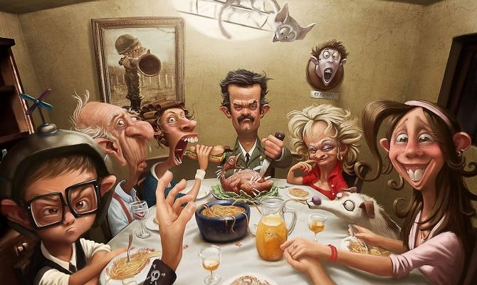 еда и отношение окружающих людей